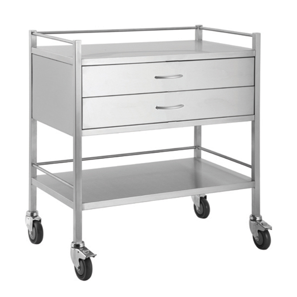 Medi 2 drawer trolley