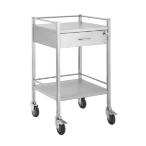 Lockable SS Trolley – 1 Drawer